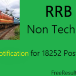 RRB Exam Notification 2016 for 18252 Posts