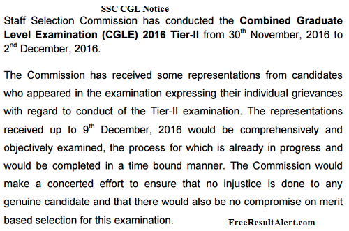 ssc cgl 2017 notice