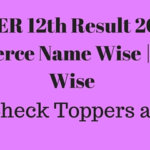 BSER 12th Result 2016 Commerce Name Wise | School Wise & Toppers