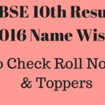 {NEW}CBSE 10th Result 2016 Name Wise | Roll No wise | Toppers