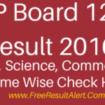 MP Board 12th Result 2016 Name Wise Arts, Science, Commerce