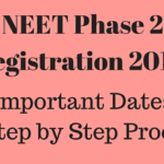 NEET Phase 2 Registration Form 2016 OFFICIAL @ neet.nic.in