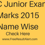 SSC JE Exam Marks 2016 Name Wise & Cut Off Marks pdf