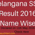 TS SSC Result 2016 Name Wise/Telangana 10th Class Result @ ManaBadi