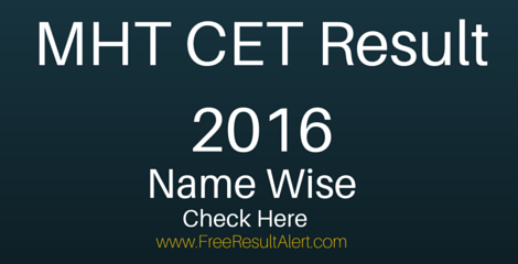 MHT CET Merit List 2016