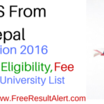 Nepal MBBS Entrance Exam 2016 Admission, Fee , Eligibility Top College & University List