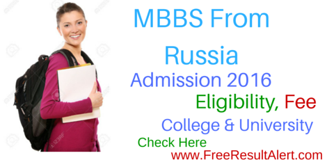Russia MBBS Admission 2016