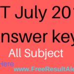 CBSE UGC NET Answer key 10th July 2016 & UGC Net Question Paper