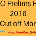 SBI PO Mains Result Result 2016 & Cut off Marks { Latest*} With Score Card