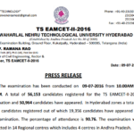 TS EAMCET 3 Result 2016 & Answer Key Engineering & Medical {New*} Manabadi Name Wise