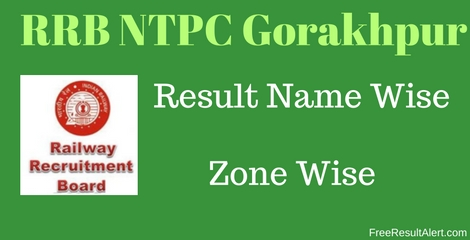 RRB NTPC Gorakhpur Result Name Wise