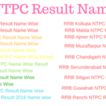RRB NTPC Result Name wise 2019 Railway Result यहां देखें