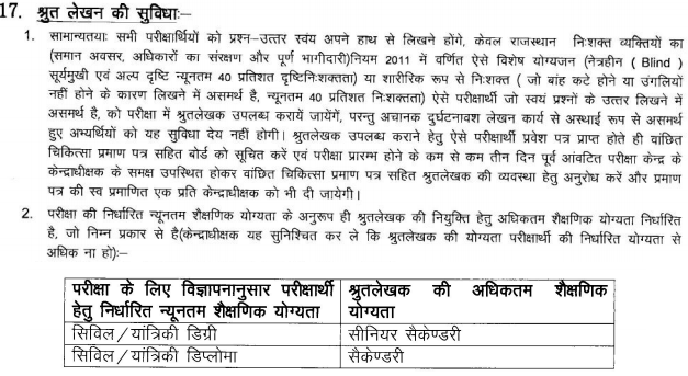 Rajasthan WRD Junior Engineer Dictation Test Result