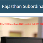 Rajasthan WRD RSMSSB  JEN Cut Off 2016 & Result Official for Civil & Mechanical