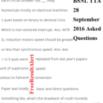 BSNL TTA 28 September 2016 Asked Questions
