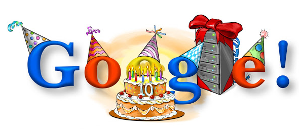 Google 10th Birthday Date 27 September 2008