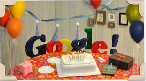 Google 13th Birthday Date 27 September 2011