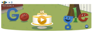 Google 15th Birthday Date 27 September 2013
