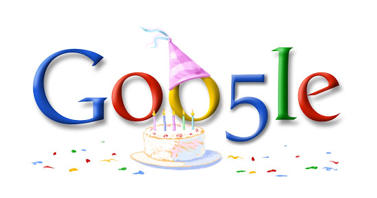 Google 5th Birthday September 8, 2003