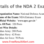 NDA 2 Result 2017 Name Wise { Declared* } Cut Off Marks UPSC Online Website