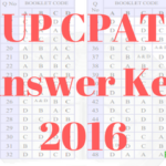 UP CPAT Answer Key 2016 UP AAyush Question paper Solution