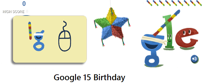 google 15th birthday celebration