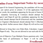SSC JE Form online at ssconline.nic.in