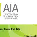 AIA Accountant Exam Result 2016