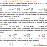 Aakash ACST 2017 Answer key