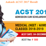 Aakash ACST 2017 Result- Date & Scholarship Details @aakash.ac.in