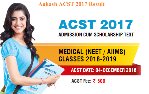 Aakash ACST 2017 Result