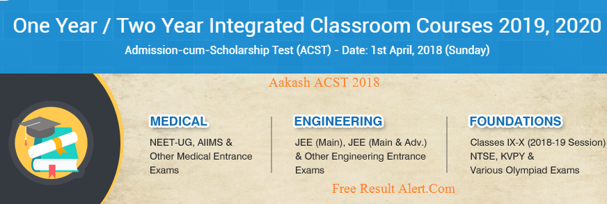 Aakash ACST 2018 Result