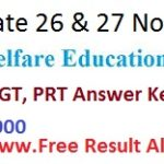 Army Public School TGT, PRT, PET & Computer Answer Key 26 & 27 November 2016