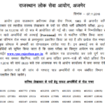 RPSC Junior Accountant Result 2016 Revised रिजल्ट जारी Cut Off 2017