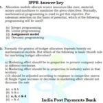 IPPB Answer key 2016-17 for Officer Scale 2 & 3 India Post Payments Bank