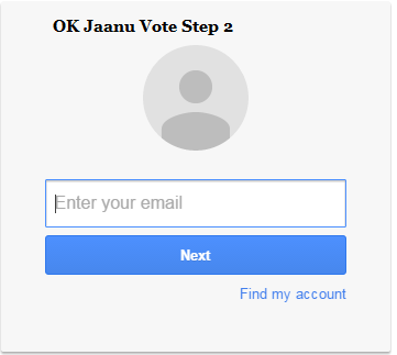 OK Jaanu Vote Step 2