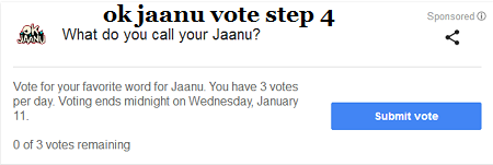 ok jaanu vote step 4