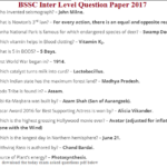 BSSC Inter Level Question Paper 2017