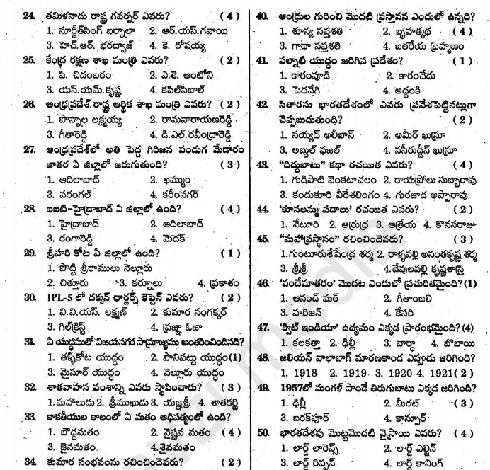 AP Police Si Mains Answer Key 201
