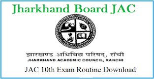 JAC 10th Time Table 2019