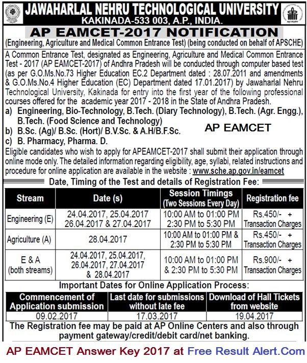 AP EAMCET 2018 Answer Key