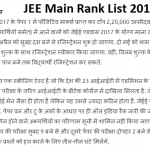 JEE Main Rank List 2017