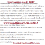 resultsassam.nic.in 2017