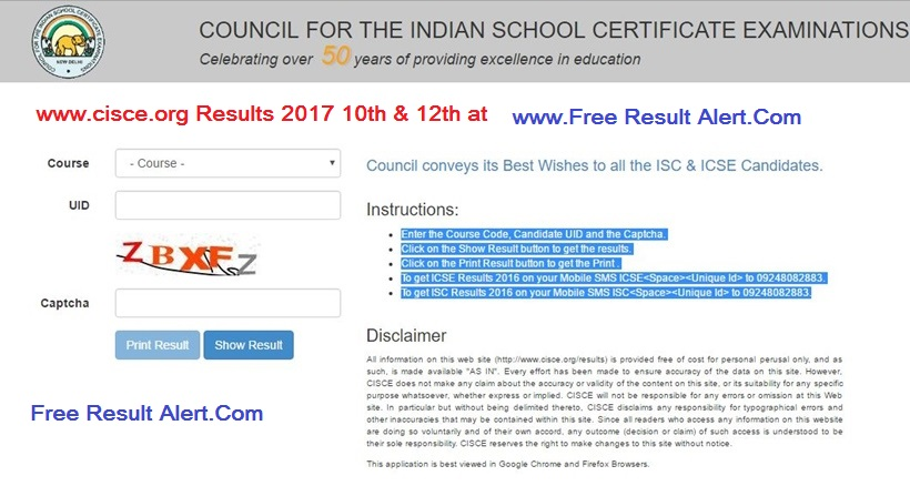 www.cisce.org Results 2017