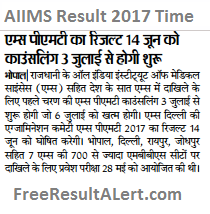 AIIMS Result 2018 Time
