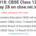 CBSE 12th Result 2018 Time