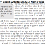 UP Board 12th Result 2017 Name Wise