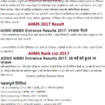 aiims result 2017