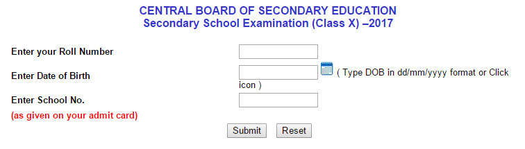 cbse 10th result School Wise