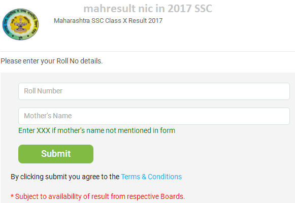 mahresult nic in 2017 SSC
